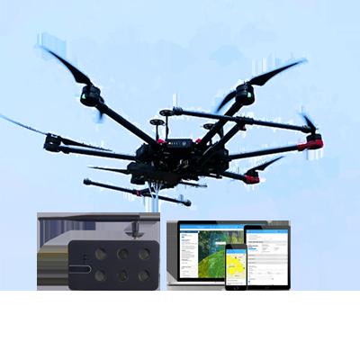 启飞应用 无人机高空气体实时分析仪 空气污染检测设备