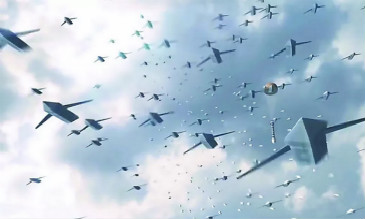 """美欲为印造""""无人僚机"""" 可从空中发射蜂群作战"""