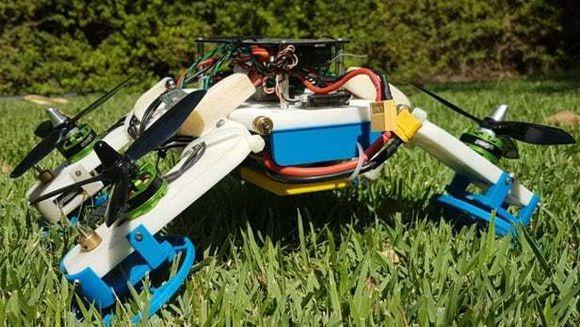 飞行无人机蔓延调谐自主机器人