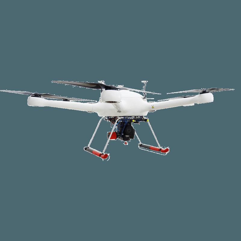 启飞应用油电混合动力超长航时多旋翼无人机