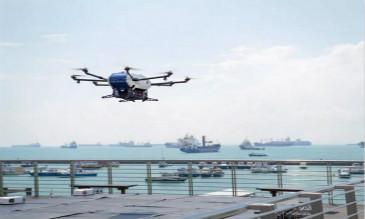 空客公司Skyways无人机进行岸船投送测试